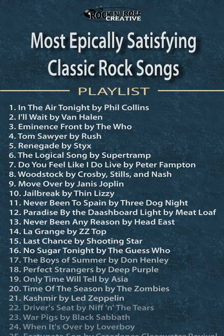 A must-enjoy rock music playlist that will satisfy every classic rock lover